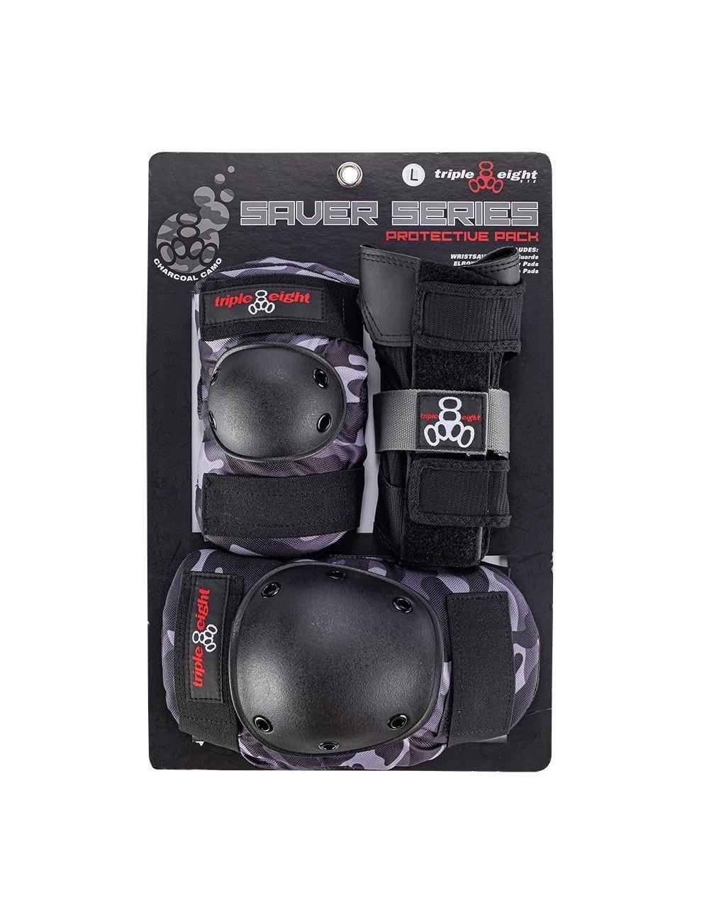 Triple 8 Tripack Charcoal Camo (Set de protecciones)